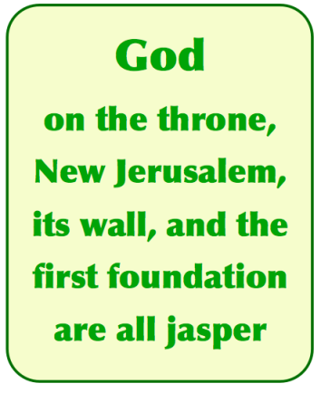 God & New Jerusalem are Jasper